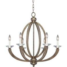"Forum Gold 6-Light 26 3/4"" Wide Chandelier"