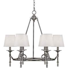"Foxcroft Pewter 6-Light 27"" Wide Chandelier"