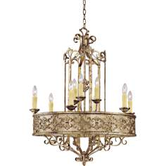 "Savonia 9-Light 29"" Wide Oxidized Silver Chandelier"