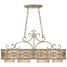 "Savonia 4-Light 19 3/4"" Wide Oxidized Silver Chandelier"