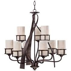 "Kyle 9-Light 35"" Wide Chandelier by Quoizel"