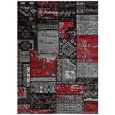 Runway Collection Hathaway 425-00230 Red Area Rug