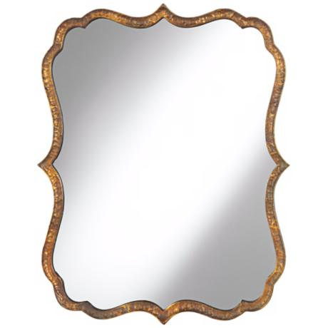 Uttermost Spadola 30 Quot High Hammered Copper Wall Mirror