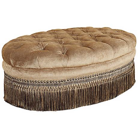 Whitney Barlow Bronze Tufted Ottoman