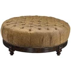 Bailey Claridge Dune Round Ottoman