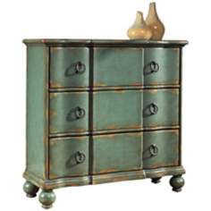 Rustic Chic Weathered Blue Hall Chest