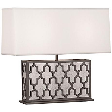 Robert Abbey Addison Wide Pearl and Nickel Table Lamp