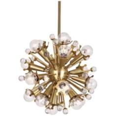 Jonathan Adler Sputnik 18-Light Antique Brass Pendant Ligh