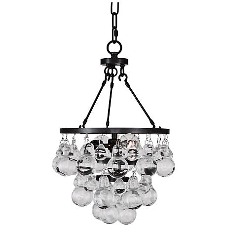 Robert Abbey Bling Patina Bronze And Glass Pendant Light