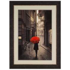 "Rainy Day in the Europe 48"" High Framed Wall Art"