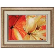 "Sharing the Spotlight 50"" Wide Floral Framed Wall Art"