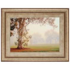 "Eucalyptus Tree 46"" Wide Framed Wall Art"