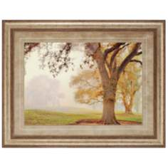 "Oak Grove Tree 46"" Wide Framed Wall Art"