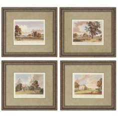 "Set of 4 Landscape Scenes 23"" Wide Framed Wall Art"