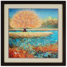 "Jewel River 35"" Square Framed Wall Art"