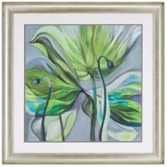"Twist Floral 41"" Square Framed Wall Art"