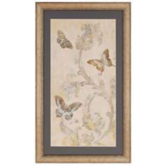"Papillion Decoratif I 48"" High Butterfly Wall Art"