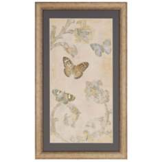 "Papillion Decoratif II 48"" High Butterfly Wall Art"