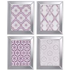 "Set of 4 Ornamental I 20"" High Decorative Wall Art Print"