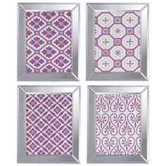 "Set of 4 Ornamental II 20"" High Decorative Wall Art Prints"