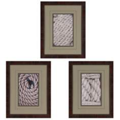 "Set of 3 Tie the Knot I 21"" High Framed Wall Art Prints"