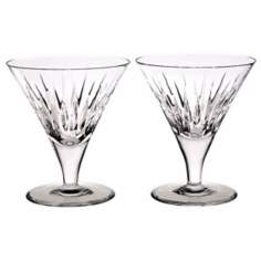 Set of 2 Reed and Barton Soho Crystal Cocktail Glasses