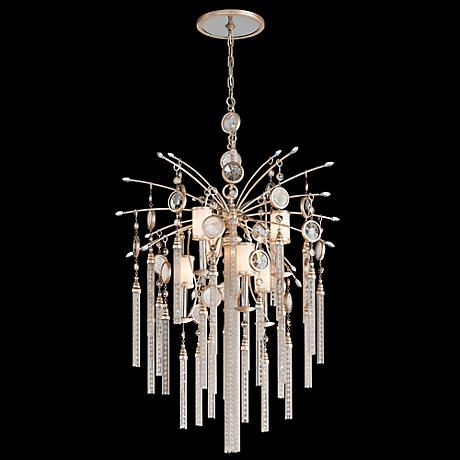 "Corbett Bliss 28"" Wide Crystal Tassel Pendant Light"
