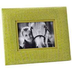 "Reed and Barton Faux Croc 5""x7"" Green Picture Frame"