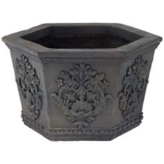 Decorative Hexagon Outdoor Planter