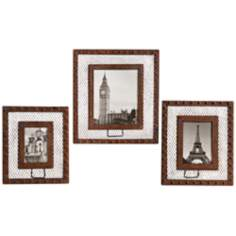 Uttermost Aruna Set of 3 Rust Metal Lattice Photo Frames