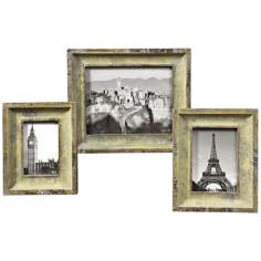Uttermost Yarkon Set of 3 Antique Green Photo Frames