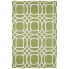 Resort Telescope 25464 Green Outdoor Area Rug
