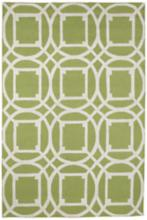"Resort Telescope 25464D 5'x7'6"" Green Outdoor Area Rug"