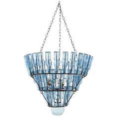 "Arteriors Stedman Five Light 29"" Wide Glass Chandelier"