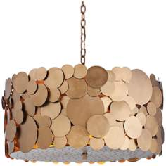 "Arteriors Ulysses Three Light Iron 22"" Wide Chandelier"
