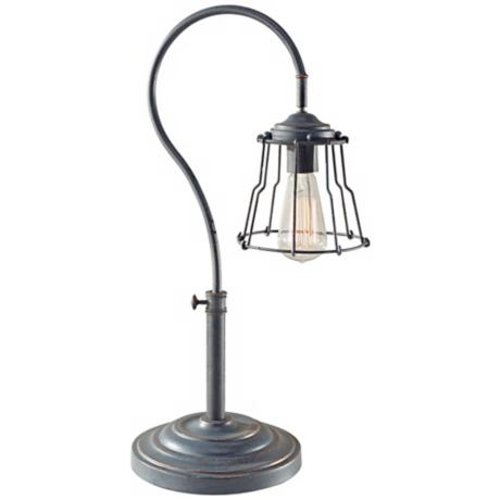 Feiss Urban Renewal Antique Forged Iron Desk Lamp