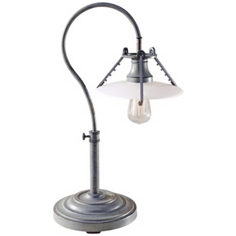 Feiss Urban Renewal Weathered Zinc Desk Lamp