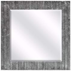 "Ardine 31 1/2"" Square Silver Textured Wall Mirror"