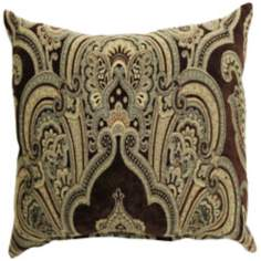 "Ace Brown 24"" Square Down Throw Pillow"