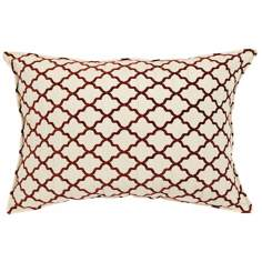 "Casablanca Burnt Orange 20"" Wide Down Throw Pillow"