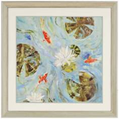 "Aqueous 36"" Square Framed Wall Art"