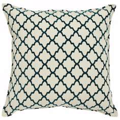 "Casablanca Jade 20"" Square Down Throw Pillow"