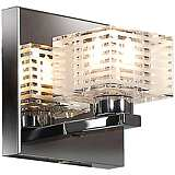 "Sophie 4 3/4"" Wide Chrome Frosted Crystal Glass Wall Sconce"