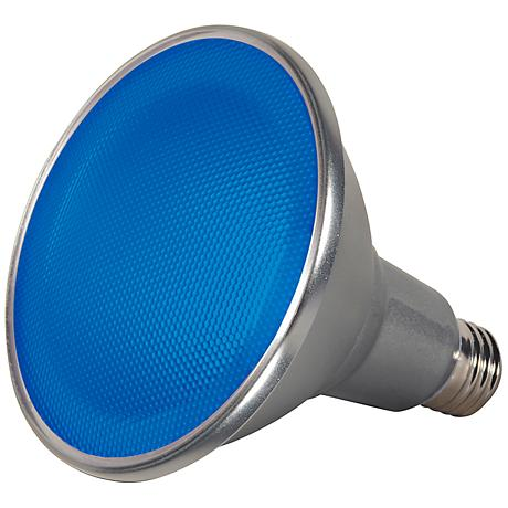 Satco Blue 15 Watt Wet Location PAR38 LED Light Bulb