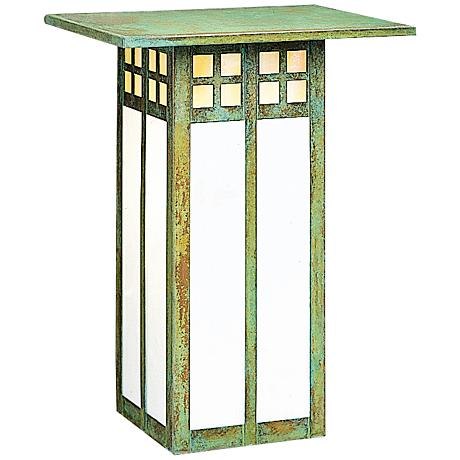 "Glasgow 12"" High Dual-Glass Verdigris Outdoor Wall Light"