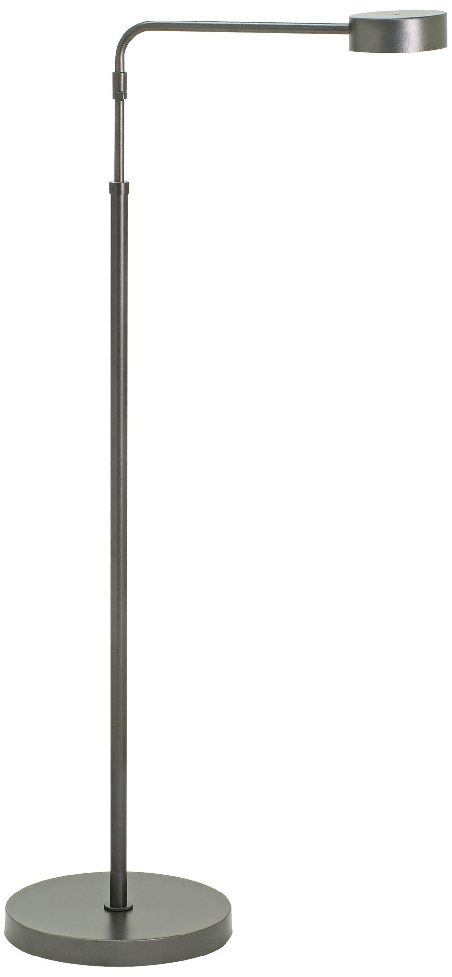 Generation Adjustable Granite Gray LED Floor Lamp (1D708)