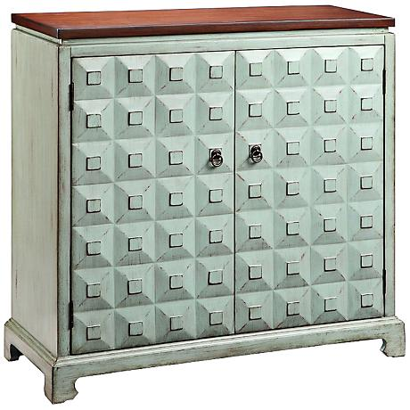 Catalina Rain Washed Blue 2-Door Accent Cabinet