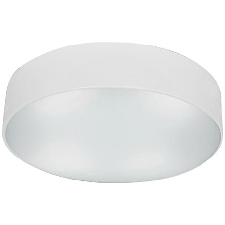 "TomTom 16 1/2"" Wide White Frosted Glass LED Ceiling Light"