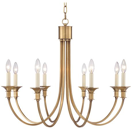 "Finney 30"" Wide 8-Light Gold Chandelier"