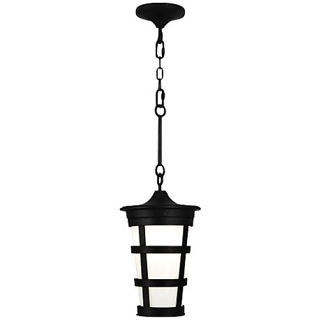 "Robert Abbey Vaux 11 1/4""W Black Outdoor Hanging Light"